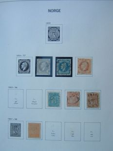 Norway 1856/1985 - collection, including official stamps, in Davo album