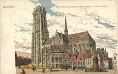 Mechelen (Belgium) Illustrator Alfred Ost 35 x - including 2 full folders - 1910/1920