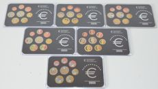 Europe - Year sets 2005/2012 (6 pieces), coloured