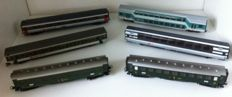 Märklin H0 - 6 different carriages, most of the SBB