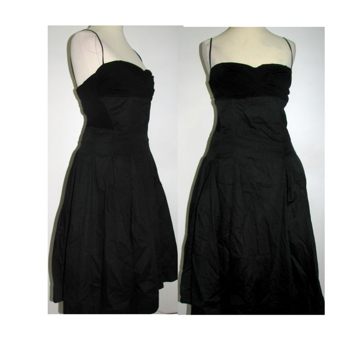 Twin-set Simona Barbieri Black Dress  Made In Italy NO RESERVE