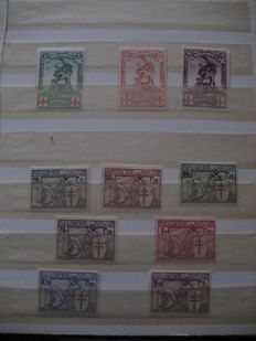 Belgium 1914/1950 - Selection of stamps - Between COB 126 and 840