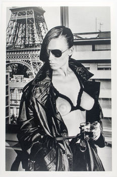 2 x Helmut Newton - Bergstrom, Paris 1976 & Jane Kirby-Avenue Kléber, Paris 1977