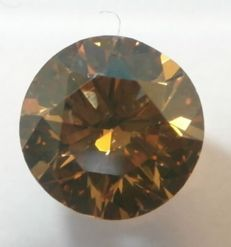 0.53 Ct. Naturel Fancy Deep Orangy Brown / VS1 , Diamamant/Brillantschliff