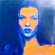 Felix von Altersheim - Kate Moss Silver Deep Water Blue - Pop Art PUR