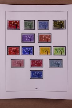 United Europe, 1962-1970 - complete collection in Lindner Falzlos T-type preprint album