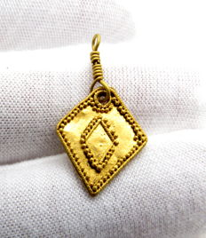 Medieval Viking period Gold Filigreed Pendent - 26 mm