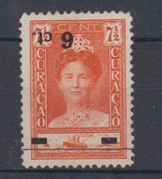 Curaçao 1929 – Support issue, tête-bêche overprint – NVPH 100f