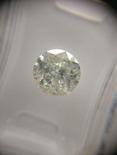 2.02 ct Round cut diamond H I2