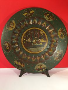 Brass plate - India - 30s-50s
