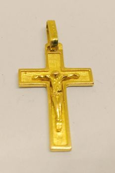Cross in 18 kt yellow gold - 25 mm.