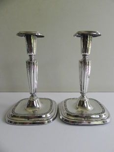 Set of silver candle stands, CGH, Stockholm Sweden, 1956