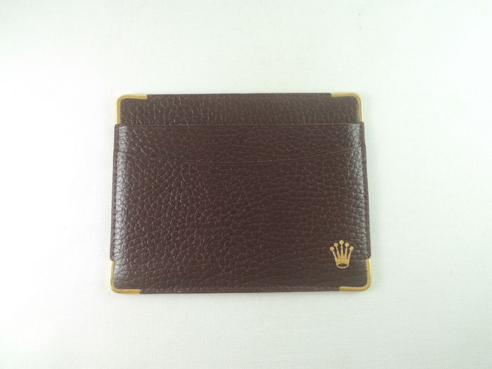 Rolex brown id business card credit card holder wallet 1017055 nos rolex brown id business card credit card holder wallet 1017055 nos unisex colourmoves