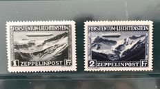Liechtenstein 1931 - Zeppelin set - Michel 114/115