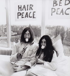 Unknown/ Keystone - John Lennon and Yoko Ono - Hilton Amsterdam - 1969
