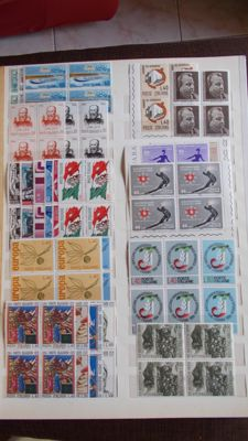 Italy, Republic, from 1956 to 1975 - 127 complete series in four-blocks