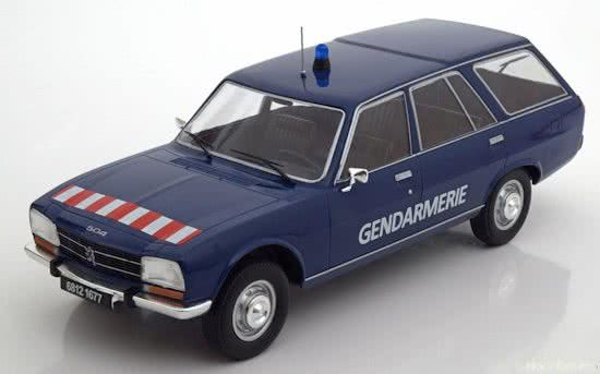 MCG - Scale 1/18 - Peugeot 504 Break 1978 Gendarmerie - Blue