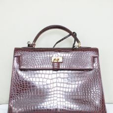 Hermès – Kelly 32 Crocodile Leather - Handbag, Vintage, in excellent condition