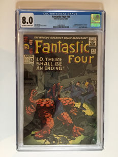 Marvel Comics -The Fantastic Four #43 - CGC Graded 8.0 -  1x sc - (1965)