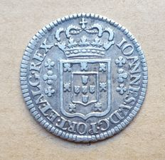 Portugal - 6 Vinténs 120 Réis - Large Escudo - D. João V. Above Average - Rare