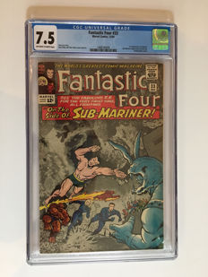 Marvel Comics - The Fantastic Four #33 - CGC Graded 7.5 -  1x sc - (1964)
