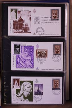 Vatican 1962/1991 - Batch of FDCs/covers in 4 albums