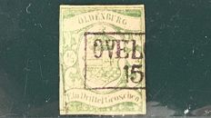 Germany Oldenburg 1861 - 1/3 grossen - Michel 10