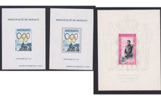 Monaco 1950/1994 – Centenary of the International Olympic Committee and Block PA Gummed Advent of Prince Rainier III – Special Block 24 and 24a and 49.