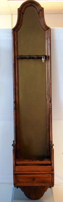 Rare walnut (?) weapon cabinet for three rifles - 19th century