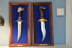 Two Knives / Decorative Knives / Hunting Knives with Eagle Handle - see picture