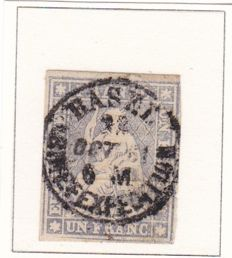 Switzerland 1854 - Seated Helvetia - SBZ 18