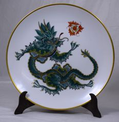Rosenthal - plate with painted dragon