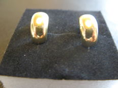 Gold earrings 14k - 12 mm