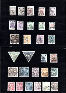 Europe - Collection including, among others, Latvia, Albania and Levant, on stock cards.