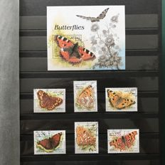 Butterfly theme - Collection of 130 series of which 20 blocks