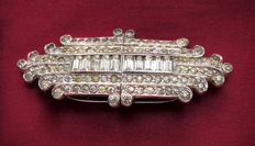 Brooch DUETTE CLIPMATES - KTF - Trifari patent number. 2050804 - 1930s