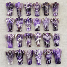 Fine Genuine 24pcs Amethyst Angels lot - 1688.50 ct (24)