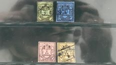 Germany Oldenburg 1852 - first emission including Michel 1 - Michel 1/4