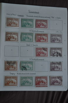 Romania 1906 - collection on album pages - variety perforations