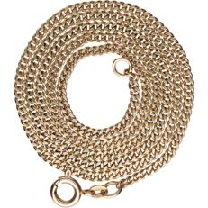 14 kt - Yellow gold curb link necklace - Length: 52 cm