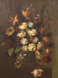 Anonymous (20th century) Natura morta con fiori