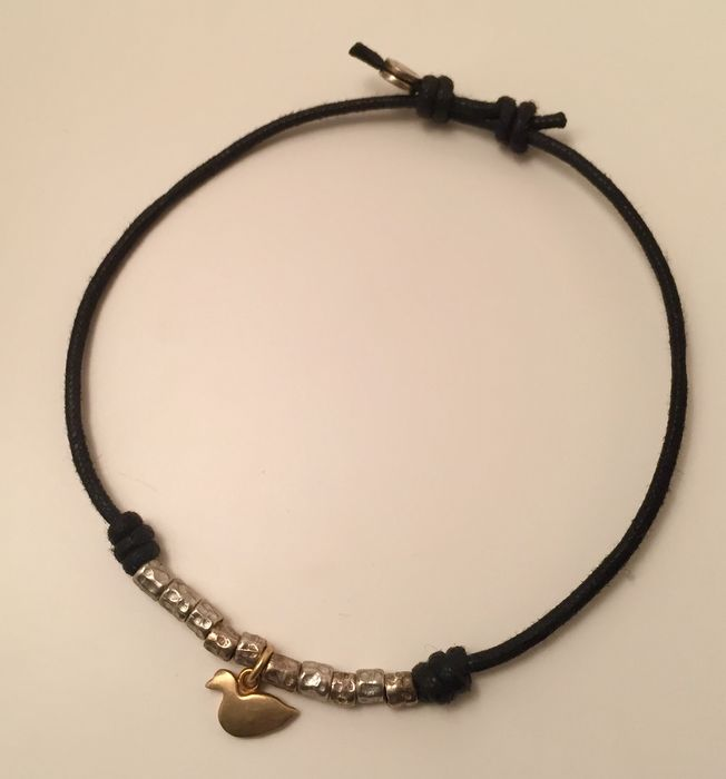 Dodo Pomellato - **no reserve price** Bracelet with duck pendant in 18 kt yellow gold and 10 nuggets of .925 silver - Adjustable wrist size