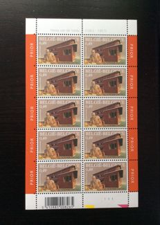Belgium 2003 - Collection of 37 sheetlets, 10 stamps - OBP 3146/3226