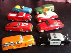 Marchesini, Italy -L. 11 cm - Lot of 8 tin cars including the Coca Cola van, 1950s