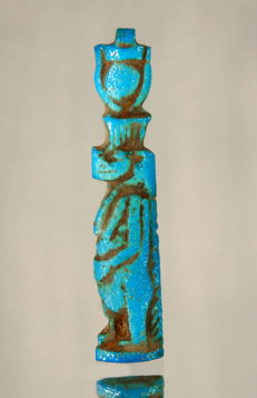 Egyptian Amarna amulet of Tawaret crowned with sun disc -  43mm