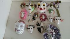 Lot of 18 Venetian style masks
