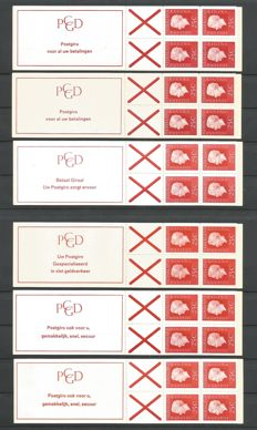 The Netherlands 1969/1970 – stamp booklets, complete series, booklet PB 9.