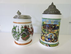 Two German beer mugs 14/18 WW1