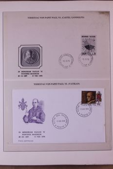 Vatican and Pope travels 1978/1982 - Collection FDCs/covers in 3 Lindner Falzlos T-type preprint albums