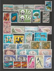 World - Stamp Collection including Afars and Issas, Andorra, Madagascar, and United Nations